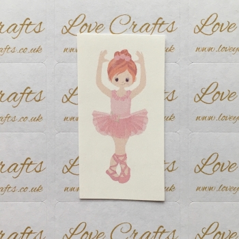 LC Ribbon Transfer - Ginger Hair Ballerina 1
