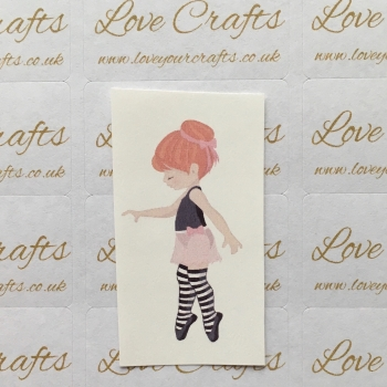 LC Ribbon Transfer - Ginger Hair Ballerina 2
