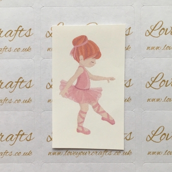 LC Ribbon Transfer - Ginger Hair Ballerina 4