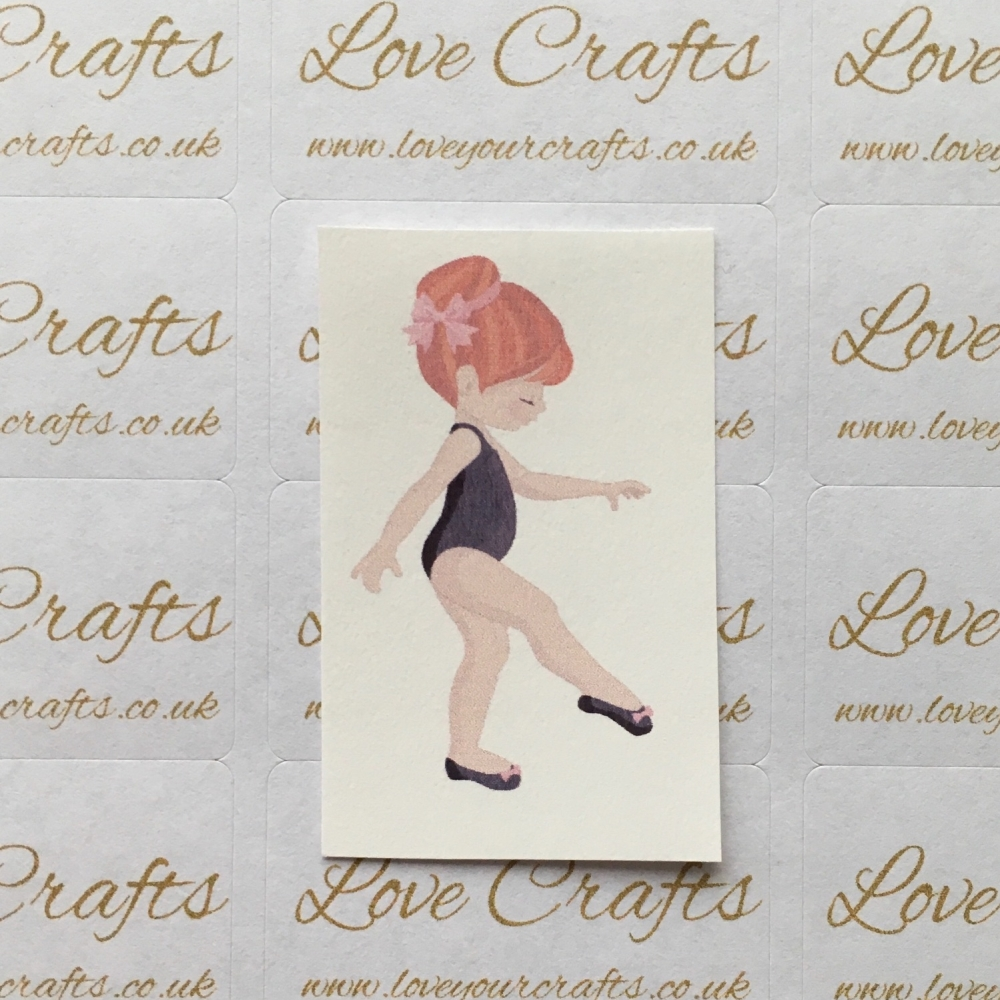 LC Ribbon Transfer - Ginger Hair Ballerina 6