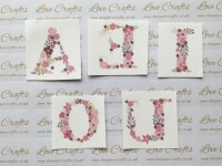 LC Ribbon Transfer - Large Floral Letter