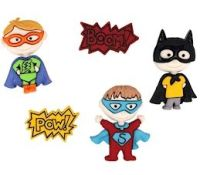 Dress It Up Buttons: Be My Super Hero