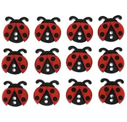 Dress It Up Buttons: Ladybugs
