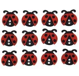 Dress It Up Buttons: Ladybugs