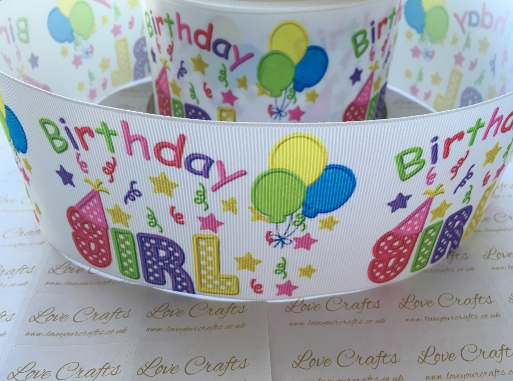 Birthday Girl Grosgrain Ribbon