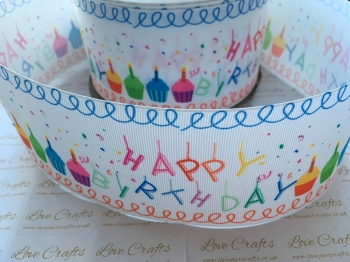 Happy Birthday Grosgrain Ribbon