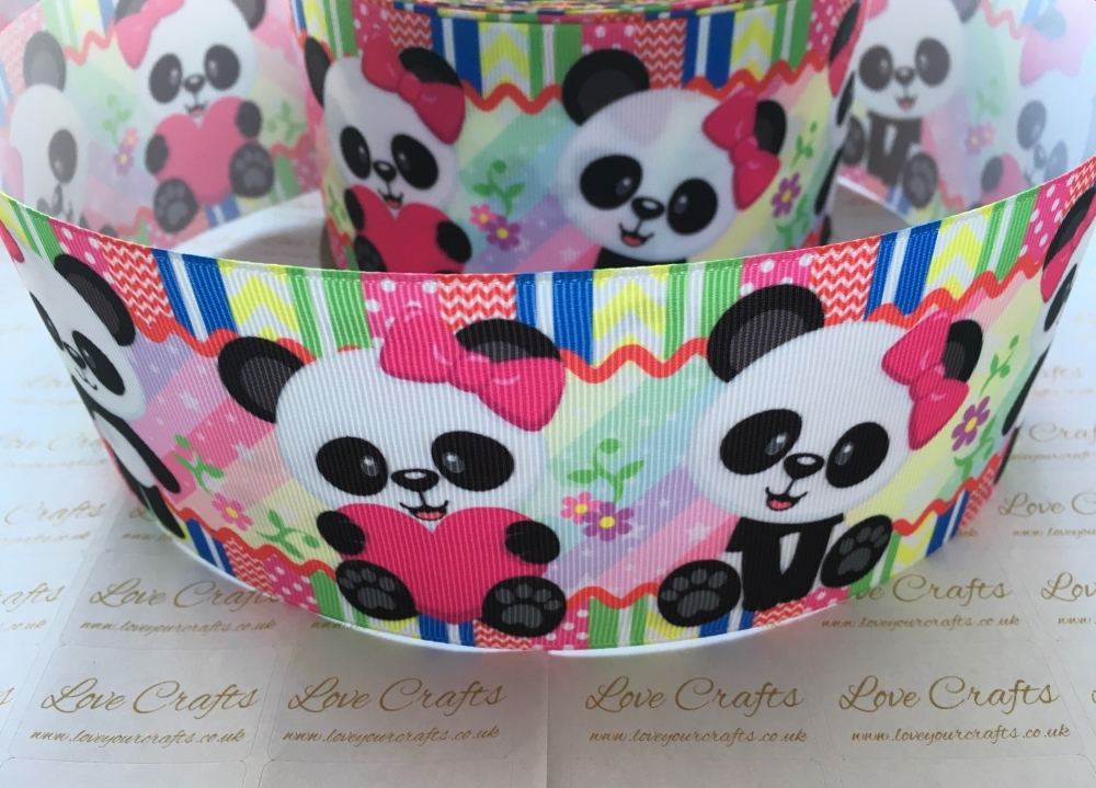 Panda Grosgrain Ribbon