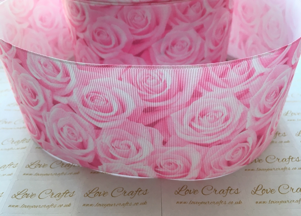 Pink Rose Grosgrain Ribbon