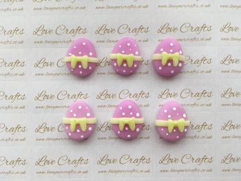 Easter Egg Purple with Yellow Bow Clay