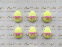 Easter Egg Yellow with Purple Bow Clay