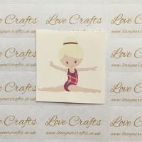LC Ribbon Transfer - Blonde Hair Gymnast 2