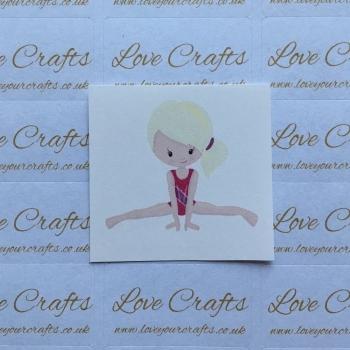 LC Ribbon Transfer - Blonde Hair Gymnast 1