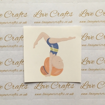 LC Ribbon Transfer - Ginger Hair Gymnast 4