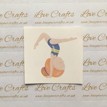 LC Ribbon Transfer - Ginger Hair Gymnast 4