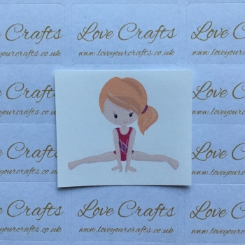 LC Ribbon Transfer - Ginger Hair Gymnast 1