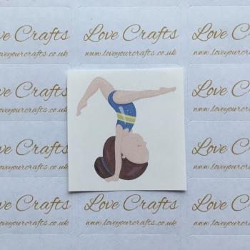LC Ribbon Transfer - Brown Hair Gymnast 4
