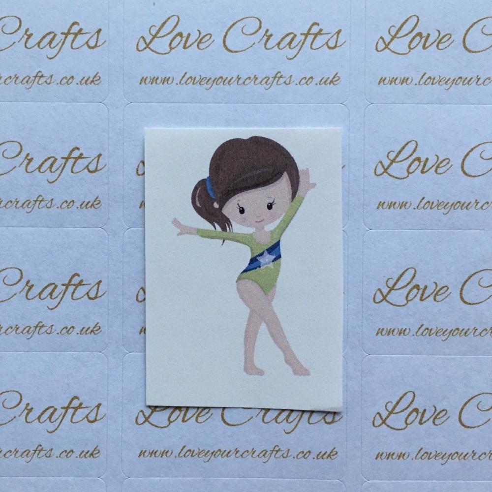 LC Ribbon Transfer - Brown Hair Gymnast 3