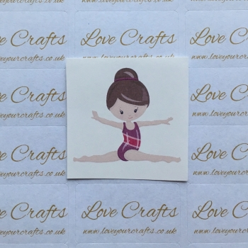 LC Ribbon Transfer - Brown Hair Gymnast 2