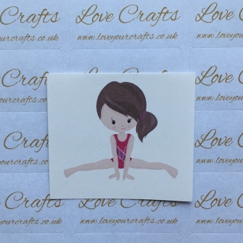 LC Ribbon Transfer - Brown Hair Gymnast 1