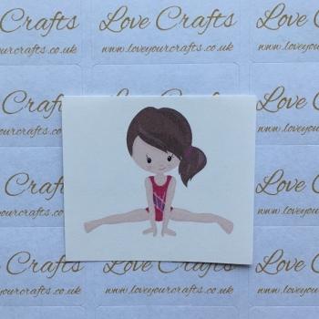 LC Ribbon Transfer - Brown Hair Gymnast 1