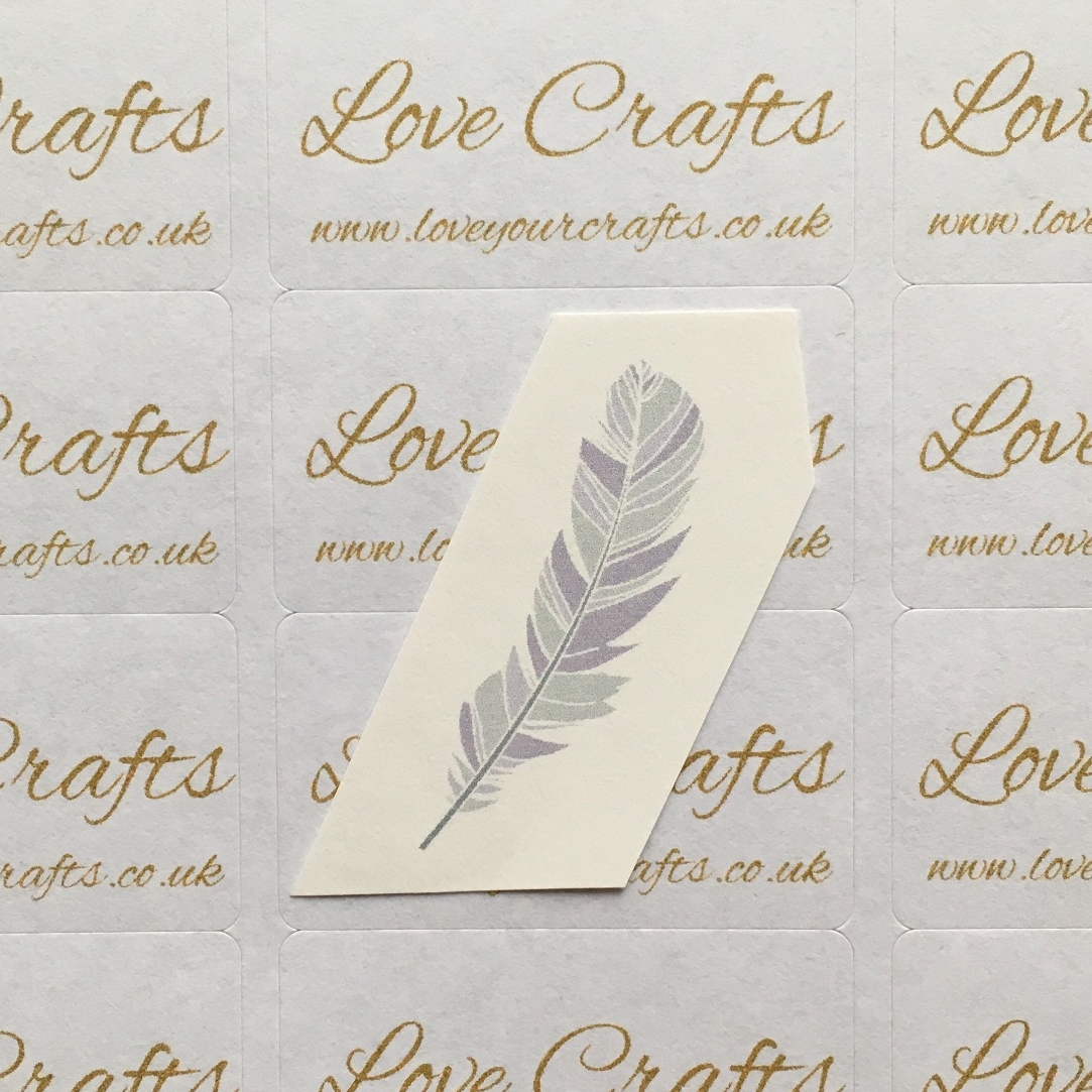 LC Ribbon Transfer - Blue Feather
