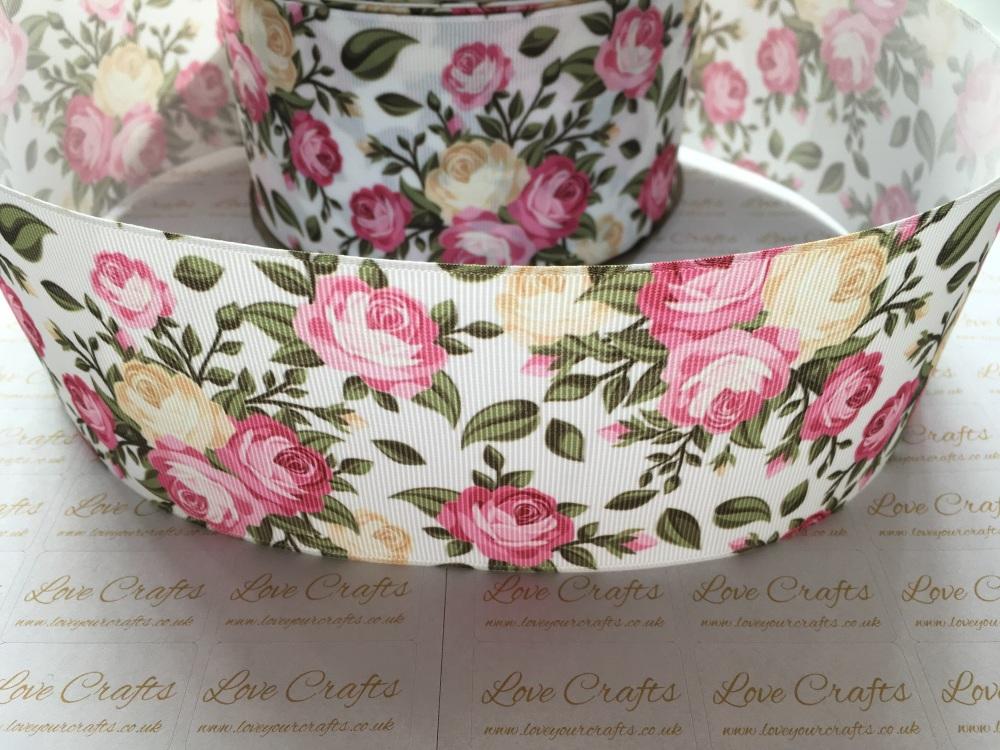Zara Floral Grosgrain Ribbon