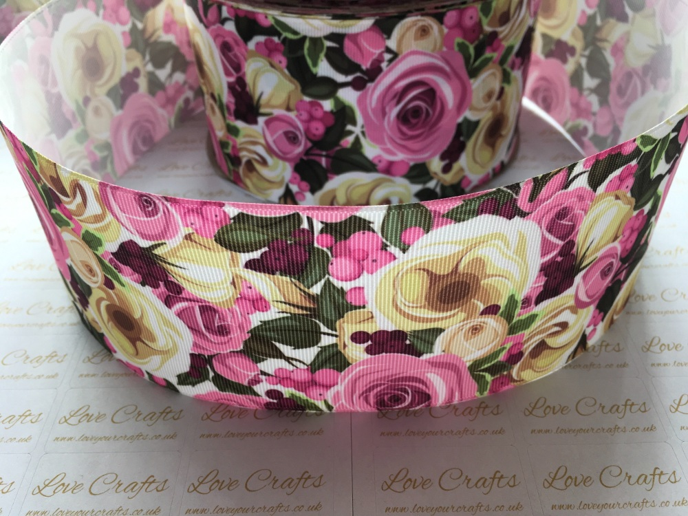 Lila-Rose Floral Grosgrain Ribbon