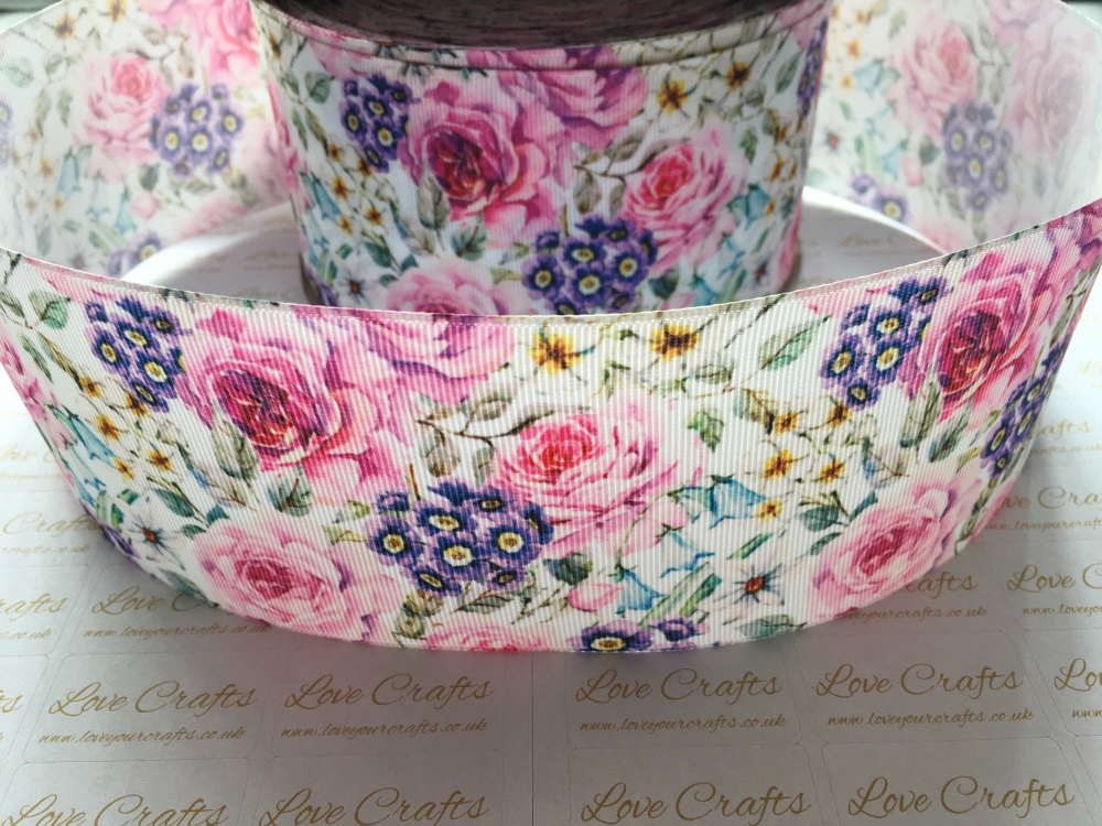 Soraya Floral Grosgrain Ribbon