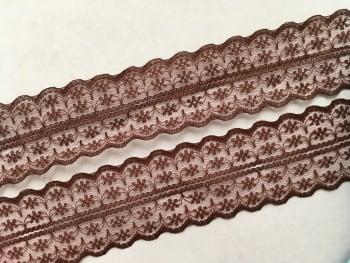 NEW 40mm Brown Lace