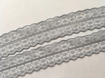 NEW 40mm Grey Lace
