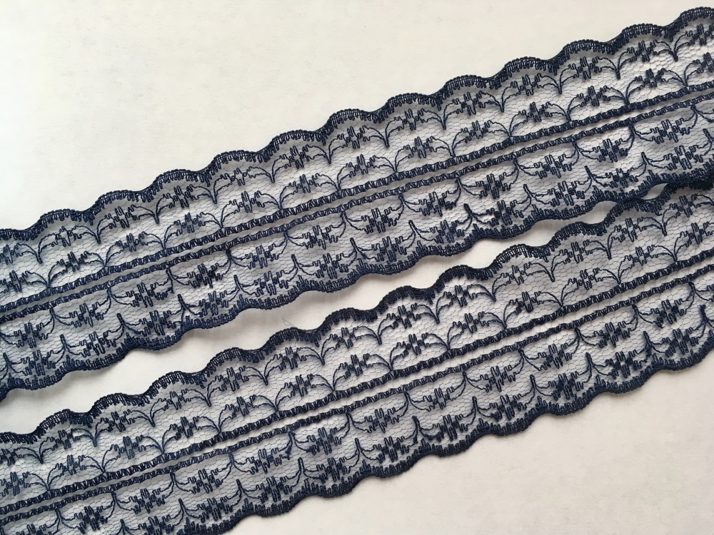 NEW 40mm Navy Lace