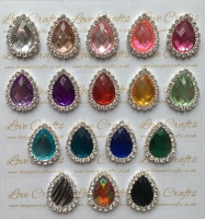 Acrylic Teardrop Bling Centre