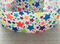 Colourful Stars Grosgrain Ribbon