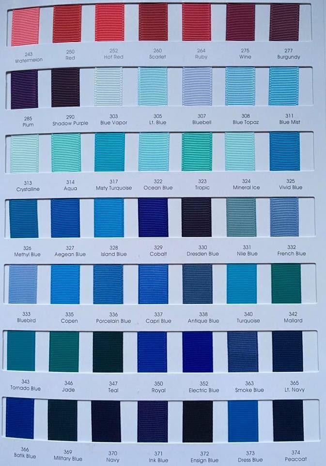 #308 Blue Topaz Grosgrain Ribbon