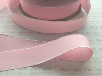 Pearl Pink with Silver Edge Grosgrain Ribbon