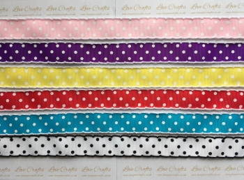 "1"" Polka Dot Ruffle Edge Grosgrain Ribbon"