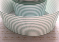 Aqua Pinstripe Grosgrain Ribbon