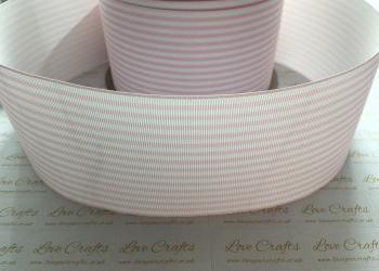 Pearl Pink Pinstripe Grosgrain Ribbon