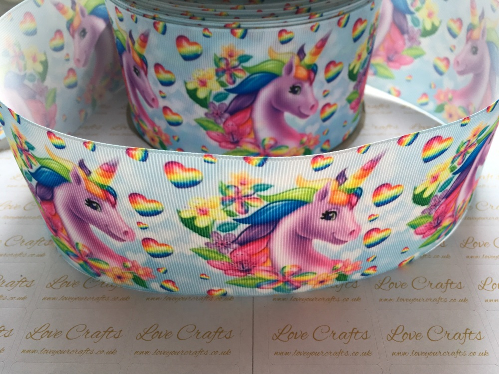 Rainbow Unicorn Grosgrain Ribbon