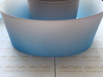 Blue/Grey Ombre Grosgrain Ribbon