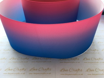Blue/Pink Ombre Grosgrain Ribbon
