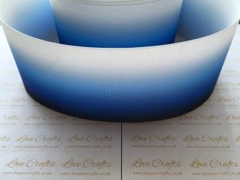 Dark Blue Ombre Grosgrain Ribbon