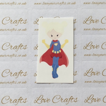 LC Ribbon Transfer - Blonde Hair Supergirl 2