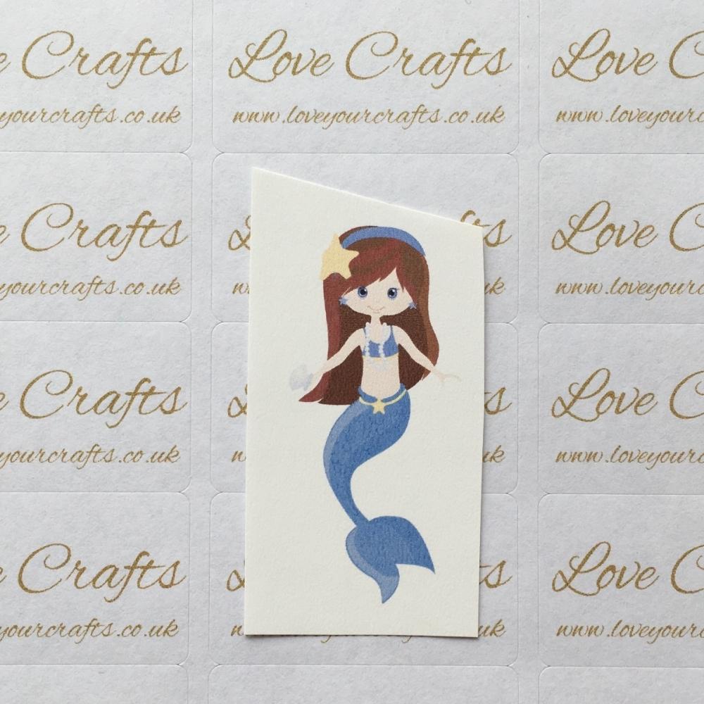 LC Ribbon Transfer - Brown Hair Small Mermaid