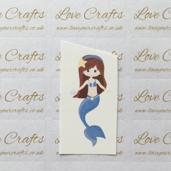 LC Ribbon Transfer - Brown Hair Small Mermaid