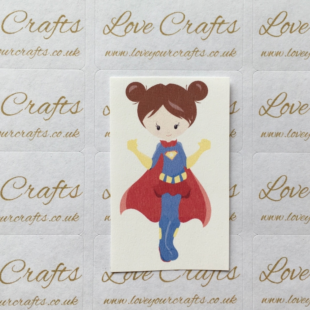 LC Ribbon Transfer - Brown Hair Supergirl 2