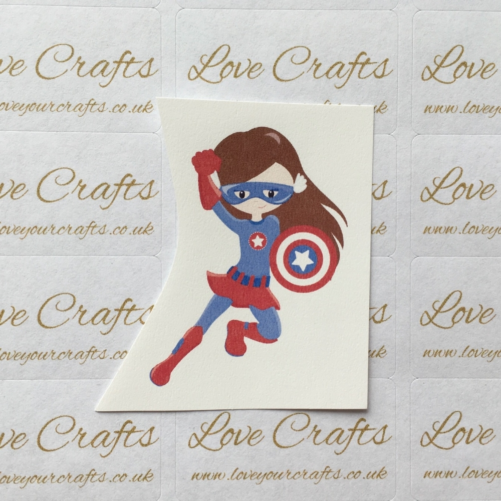 LC Ribbon Transfer - Brown Hair Supergirl 4