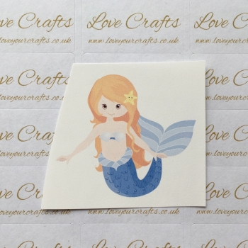 LC Ribbon Transfer - Ginger Hair Mermaid