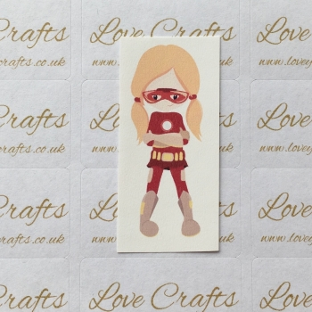 LC Ribbon Transfer - Ginger Hair Supergirl 1