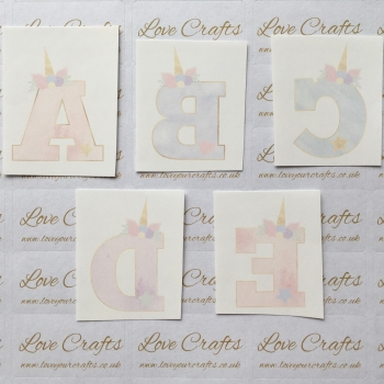 LC Ribbon Transfer - Large Unicorn Letter